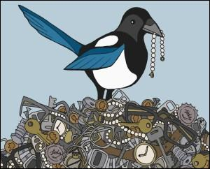 According to a new study, psychologists say that magpies are not attracted to shiny objects and don't ... jewels.