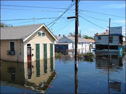 New Orleans is, on average, six feet ... sea level. Thirty-eight hurricanes have caused significant flooding in that city.