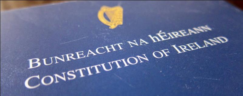 Law. When was the Constitution of Ireland adopted?