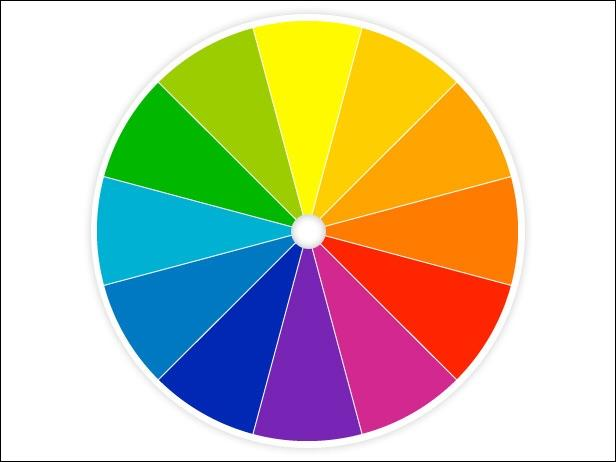 What are the primary colours of the color wheel?