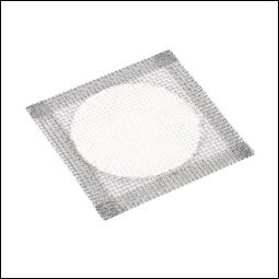 A wire mat that distributes heat evenly to the base of a glass container