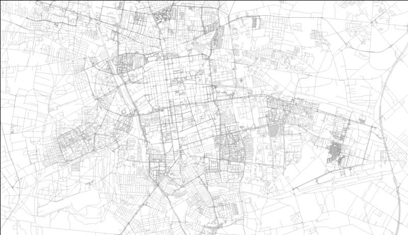 This big city's almost-grid layout resembles American cities a bit. What's the name of this city?