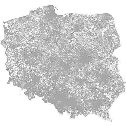 Can you guess a Polish city just by its street layout?