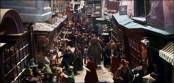 The market which inspired this Harry Potter scene is...