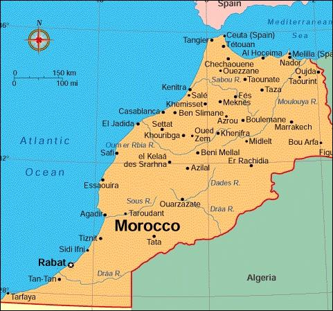Here's Morocco.