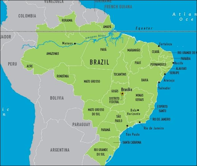 Brazil is on this map.