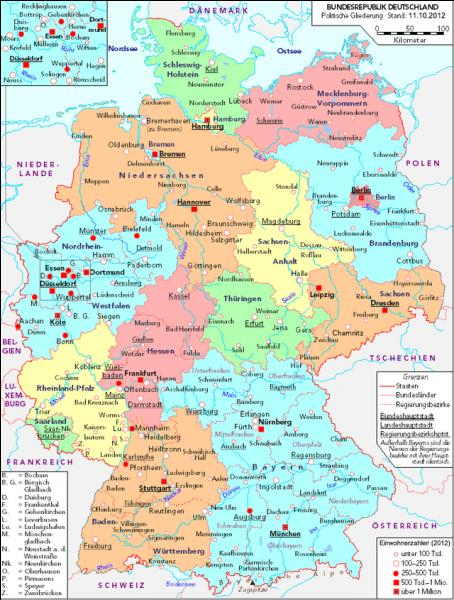 Which German state ís the largest?