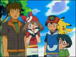 Who are Ash's travelling companions in Hoenn league?