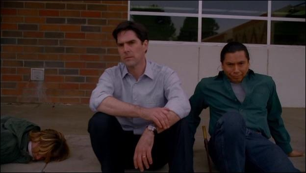 In the episode The Tribe, which name of super hero does Blackwolf give Hotch?