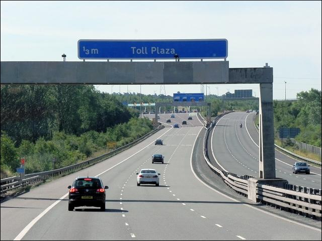 When Approaching A Toll Plaza...
