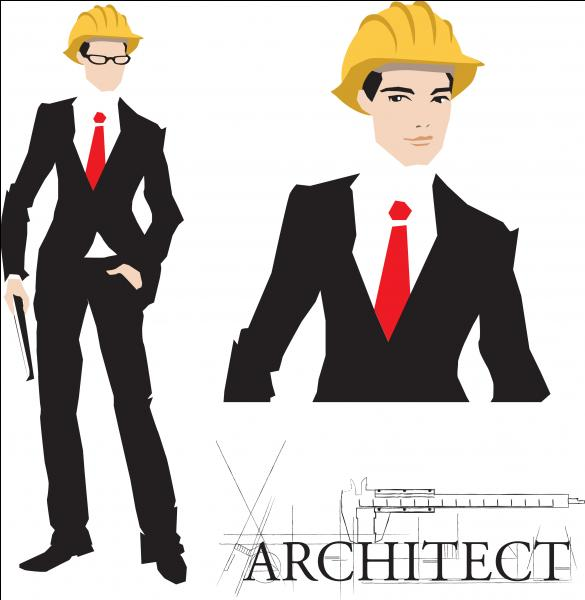 What does he do?I'm not sure; he ____ be an architect, or he ____ be a banker