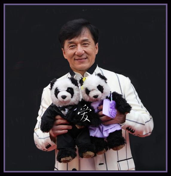 In 2010 Jackie visited a famous toy store in London and bought two pandas - La and Zy who travel with him getting to meet many famous people. This everyone knows - but do you know why they are called La & Zy?