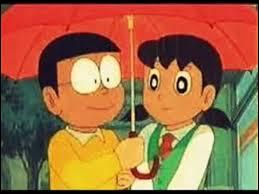 On whom does Nobita have a crush on?