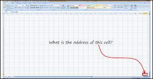 What is the last cell in one excel sheet?