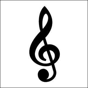 What type of clef does the picture display?