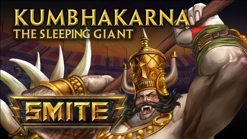 What three Gods appear on the left corner of Kumbhakarna's Pajama Party skin?